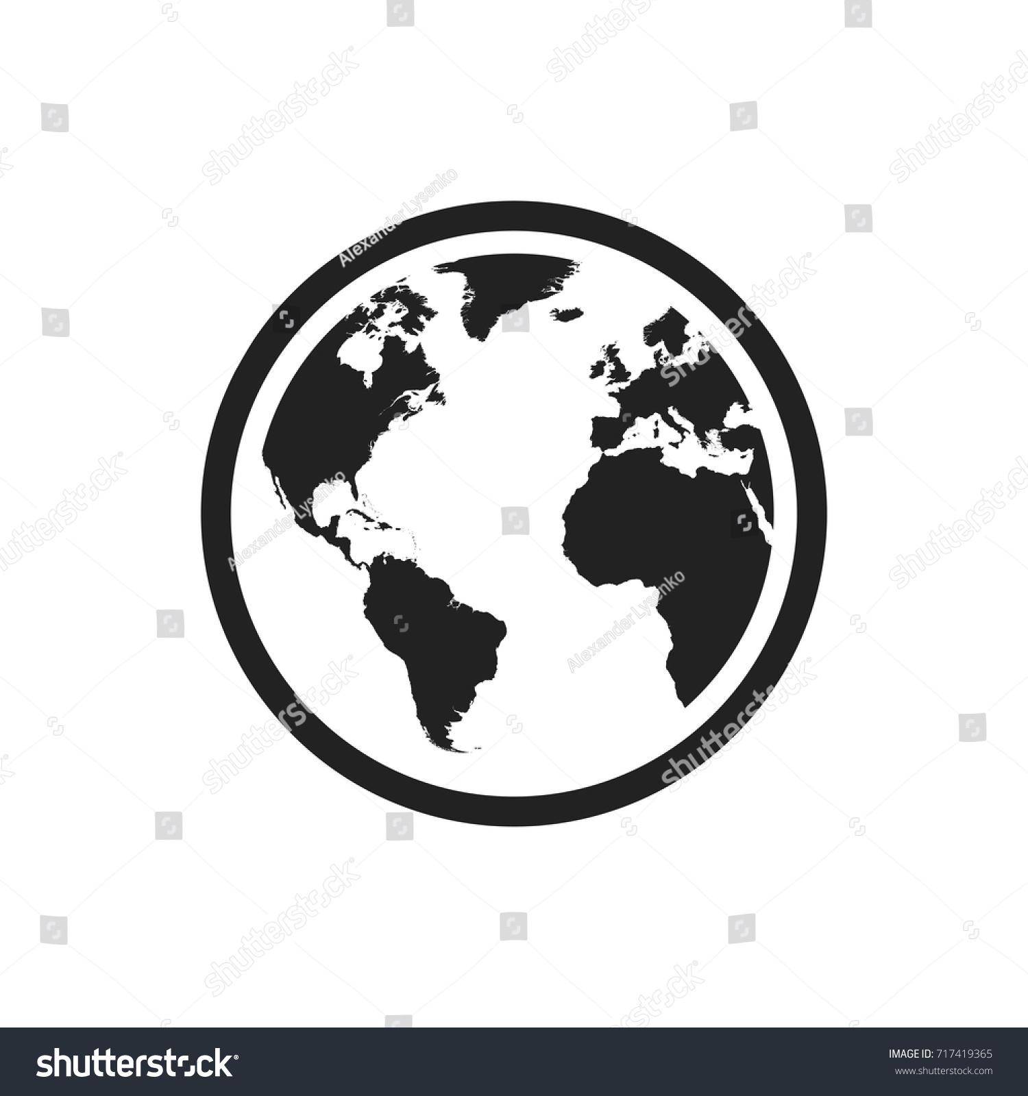 Globe world map vector icon round vectores en stock 717419365 globe world map vector icon round vectores en stock 717419365 shutterstock gumiabroncs Gallery