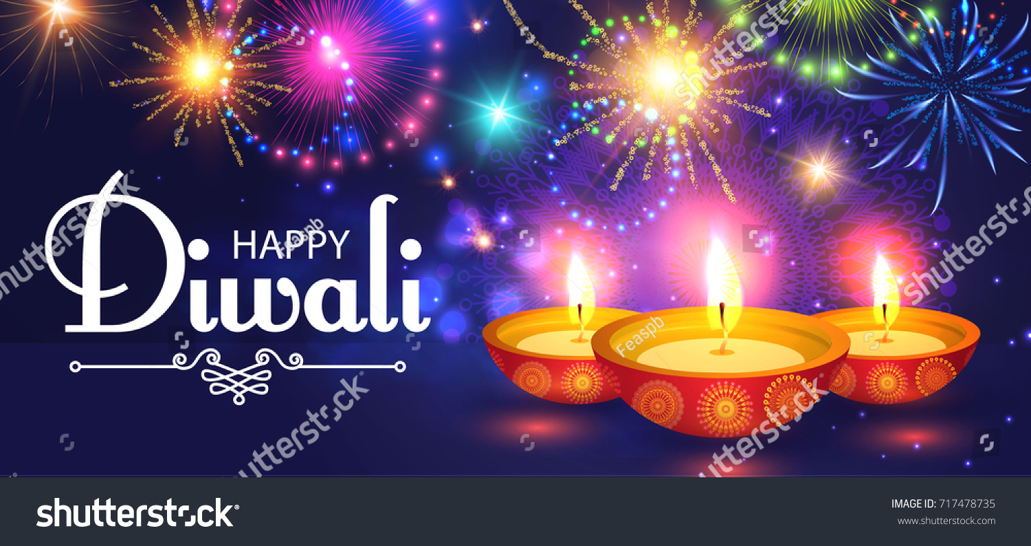 Happy Diwali Traditional Indian Festival Background Stock Vector ...
