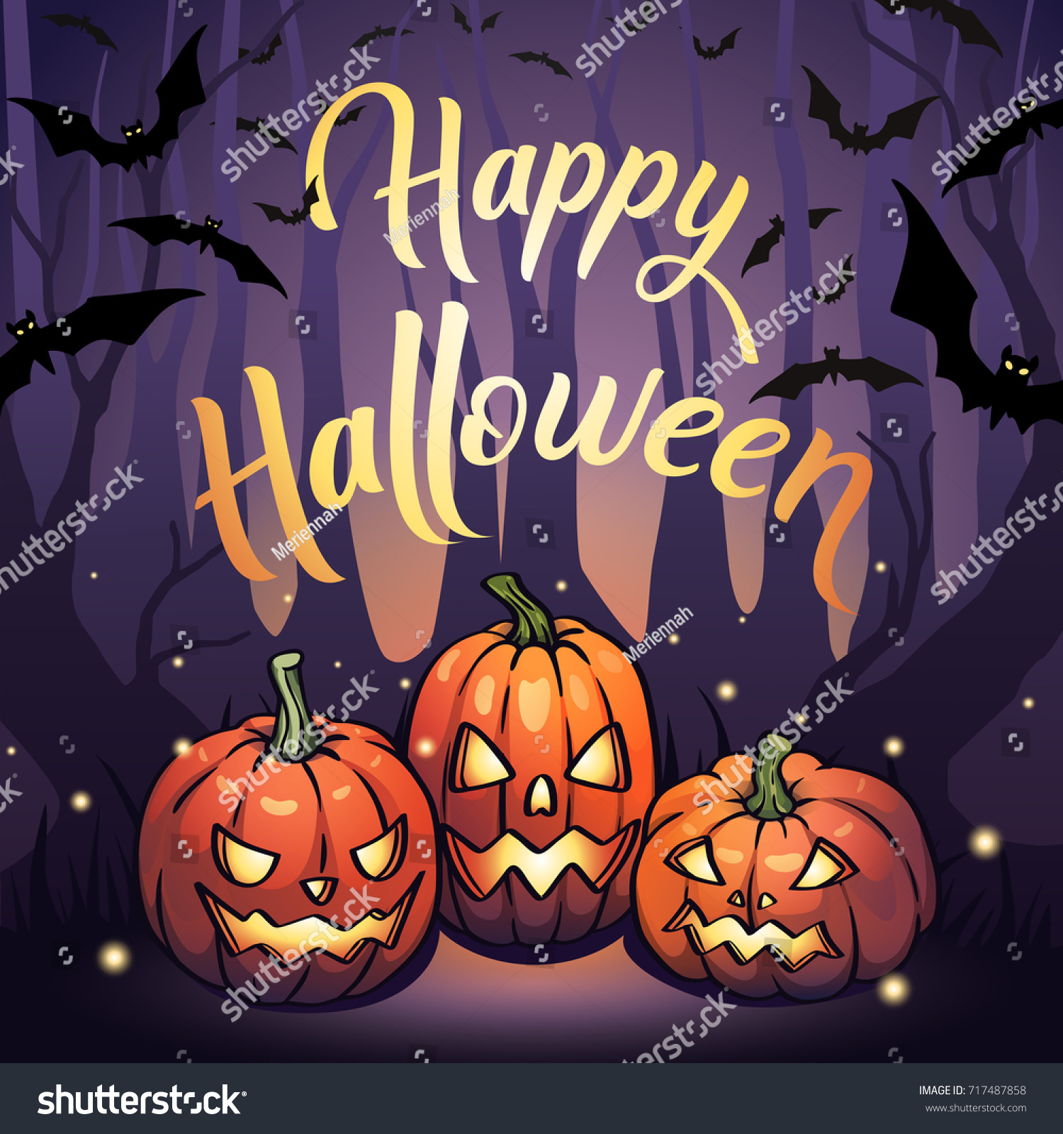 vector halloween design banner poster cover stock vector (royalty