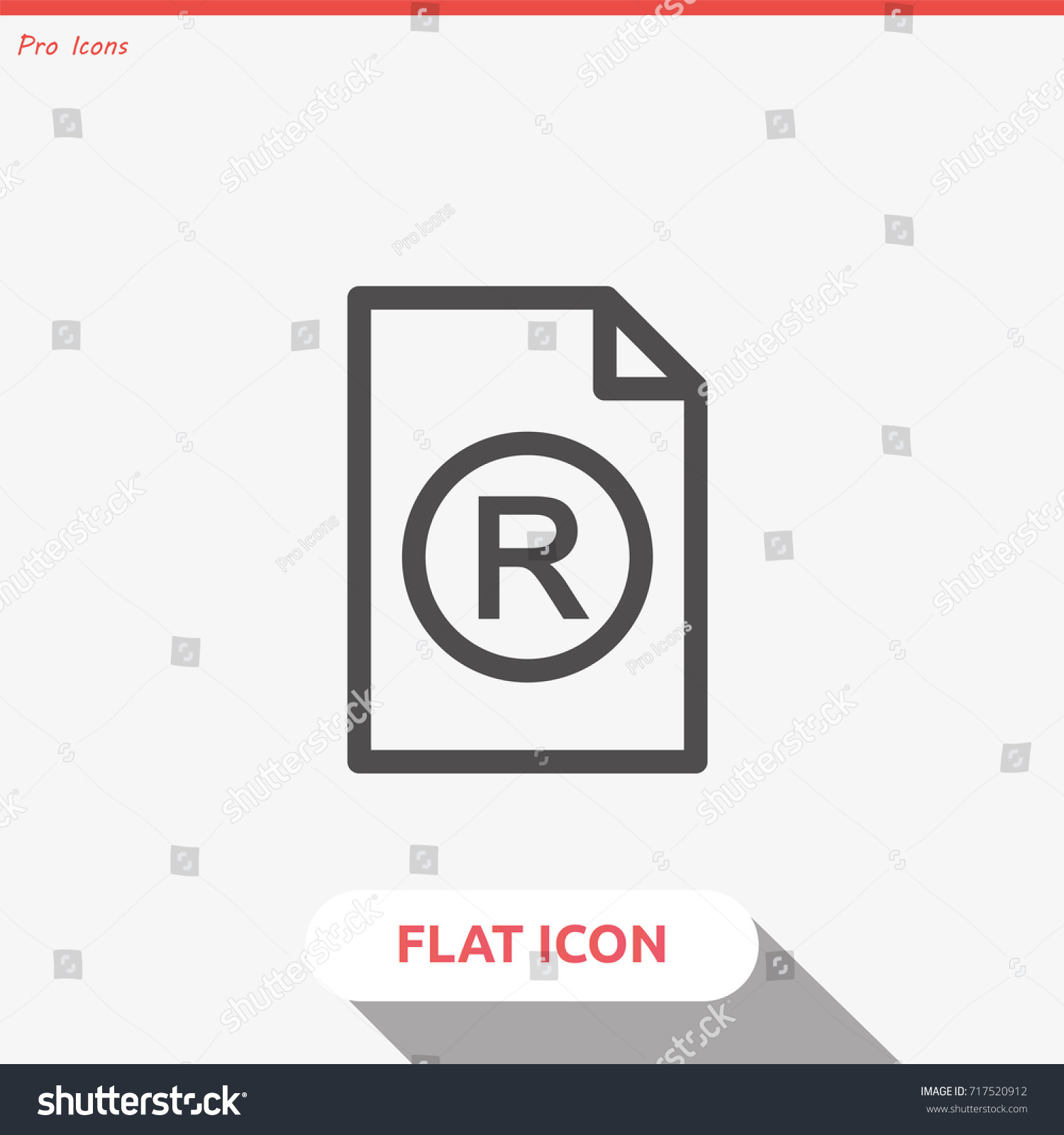Registered trademark symbol isolated on grey stock vector registered trademark symbol isolated on grey background vector modern simple flat vector symbol biocorpaavc Gallery
