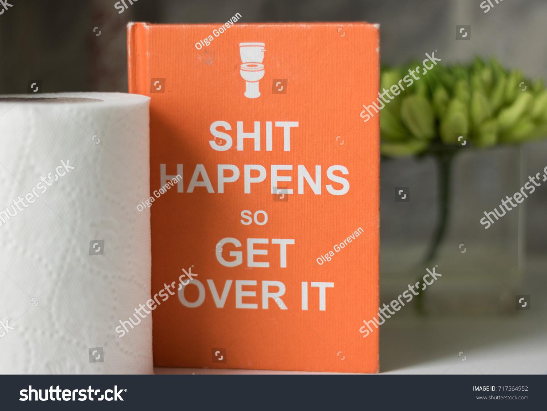 Humor Orange Book Joke Words Happens Stock Photo Edit Now