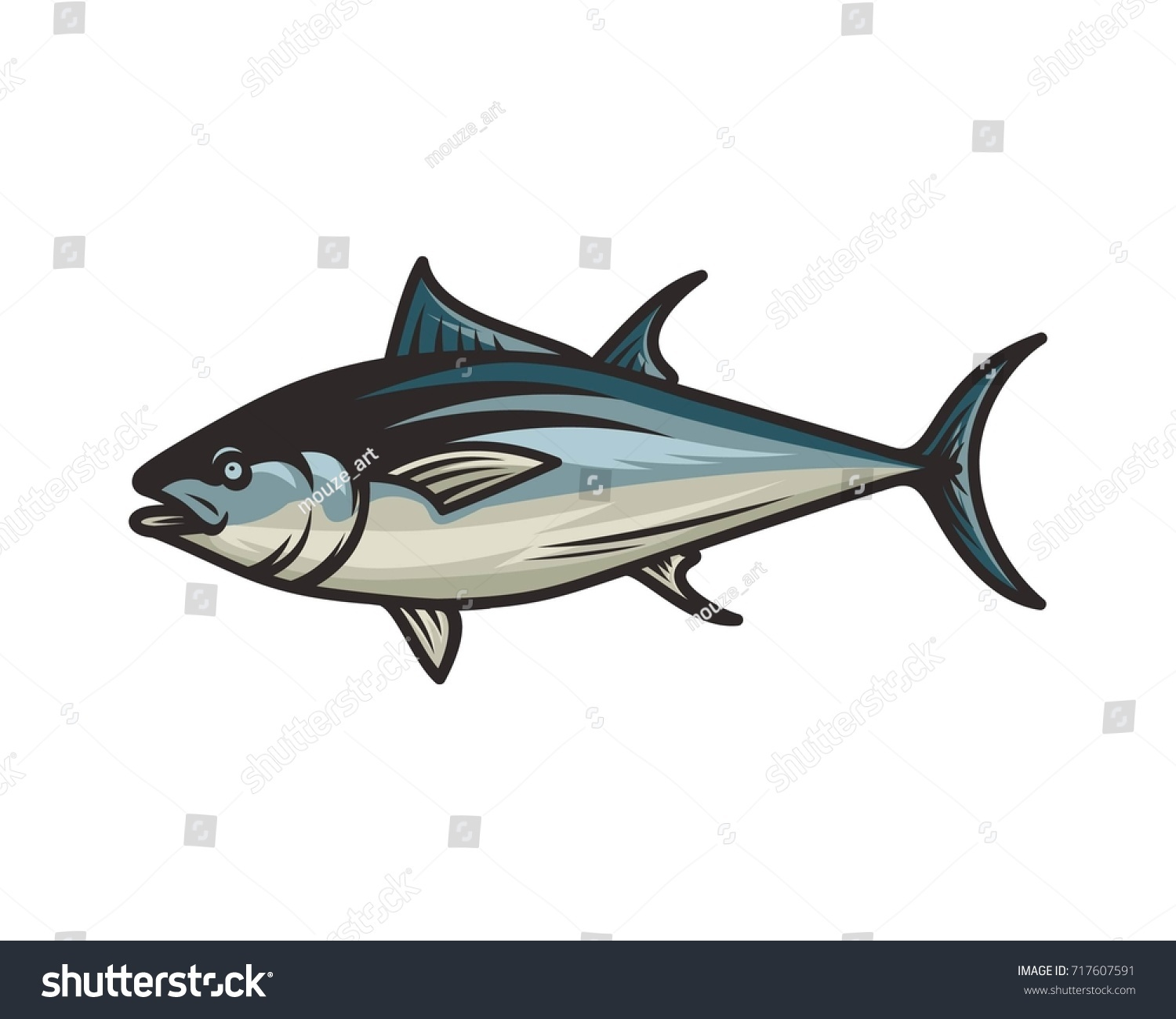 tuna fish vector illustration stock vector royalty free 717607591 https www shutterstock com image vector tuna fish vector illustration 717607591