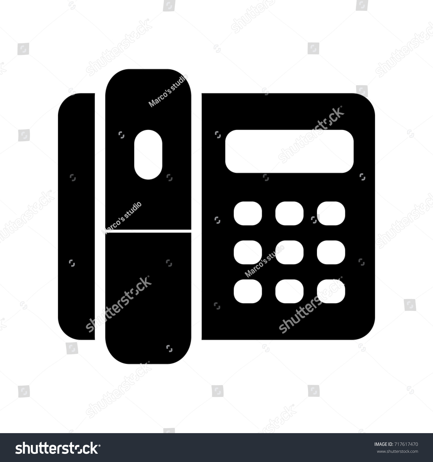 Home Phone Vector Icon Stock Vector Royalty Free 717617470