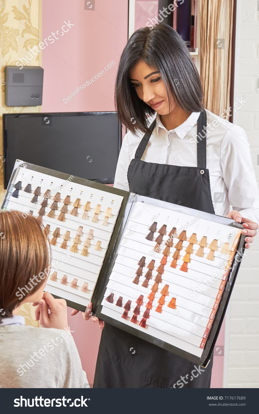 Stylist Holding Hair Swatches Chart Woman Stock Photo Edit Now