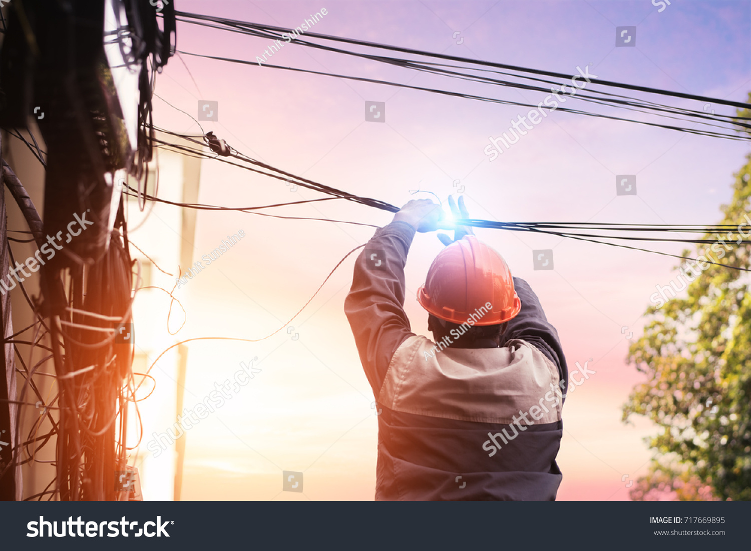 Electricians Dismantling Wiring Building Electrician Made Stock A Are The From Buildingthe Bad Mistake And