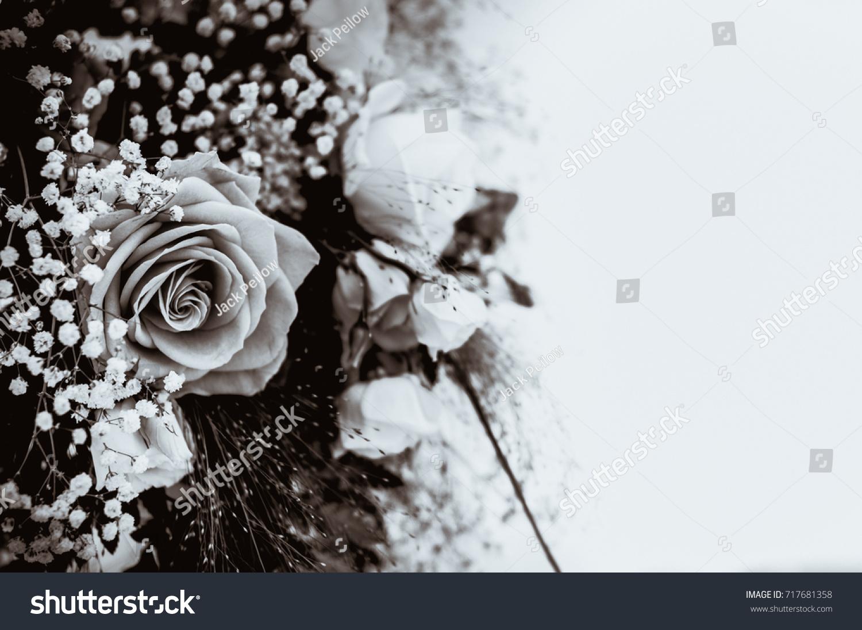 Wedding Flowers Black White Bouquet Roses Stock Photo Edit Now