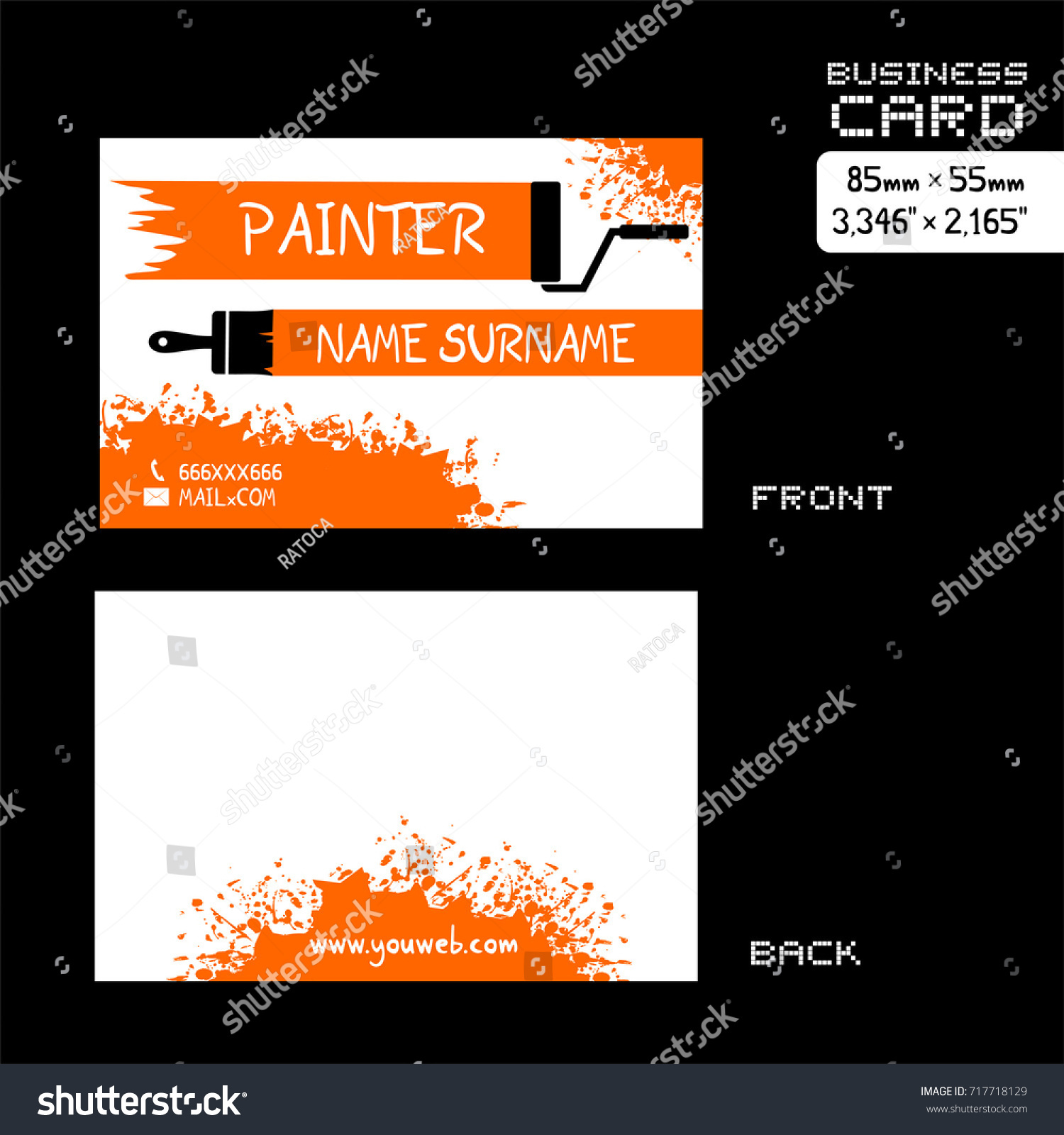 Business card for painter gallery free business cards business card painter worker stock vector 717718129 shutterstock business card for painter worker magicingreecefo gallery magicingreecefo Gallery