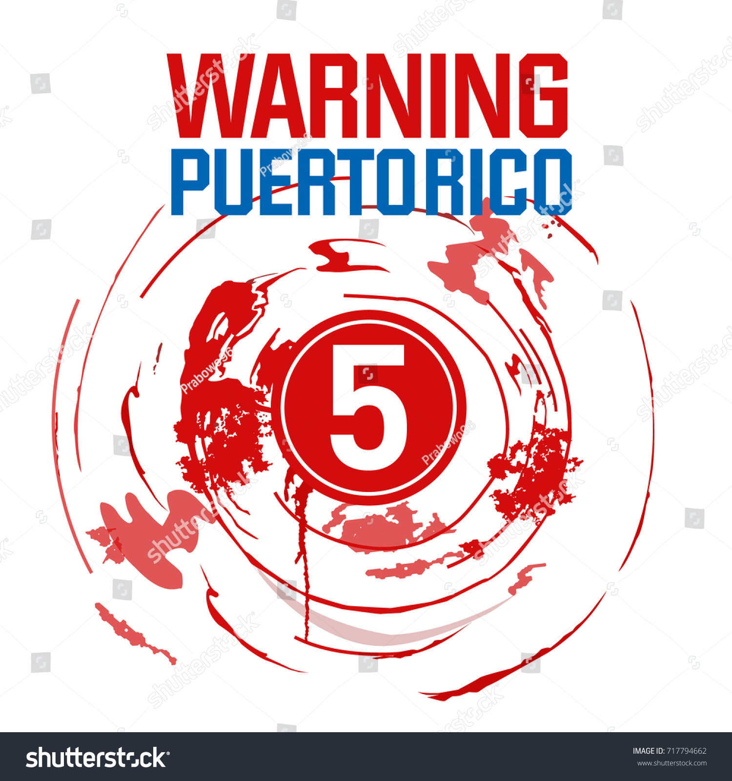 Public alerts natural disaster hurricane maria stock vector public alerts for natural disaster hurricane maria track and path prediction area of puerto rico biocorpaavc Choice Image