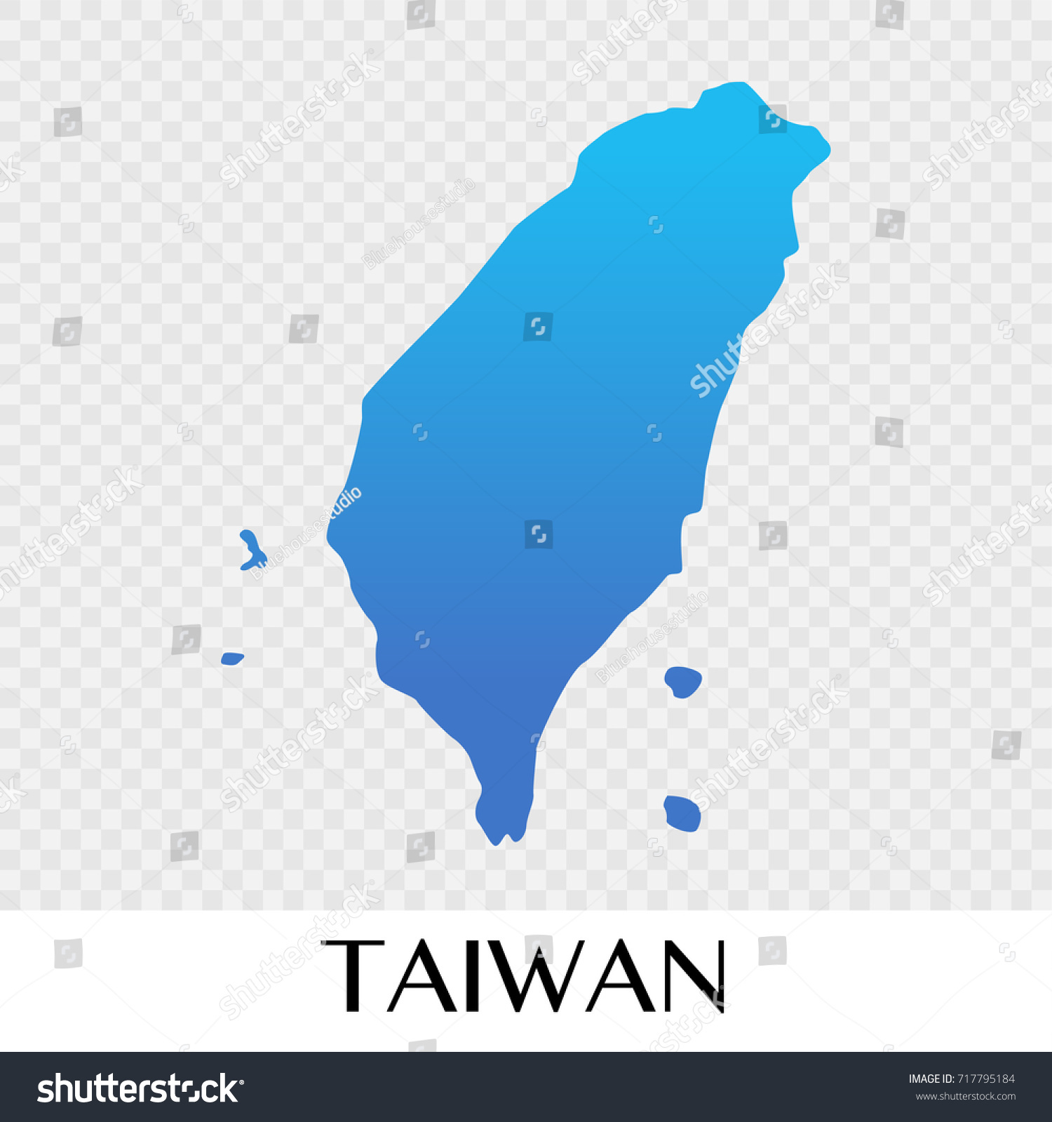taiwan map in asia continent illustration design