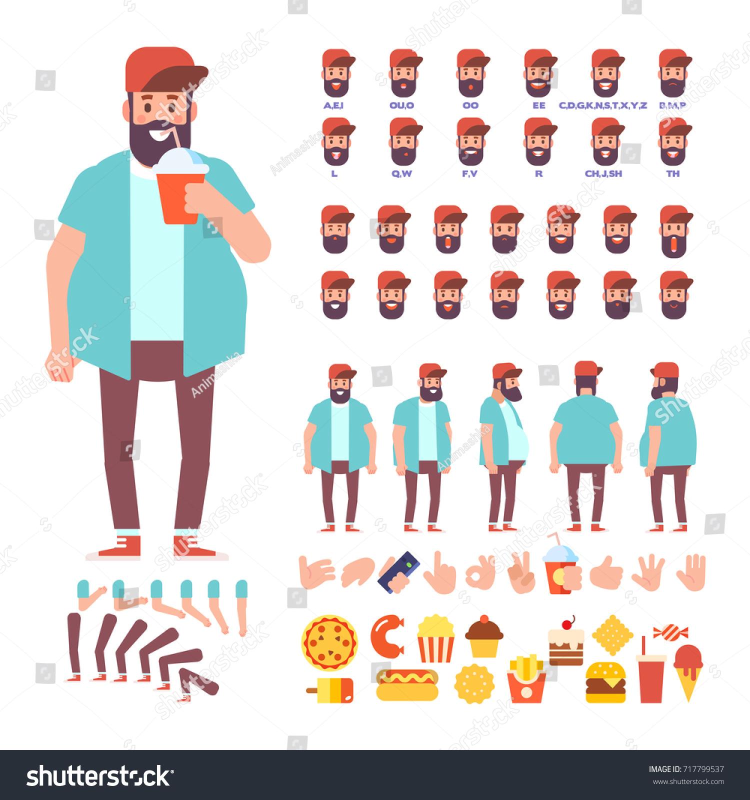 fat bearded cartoon characters