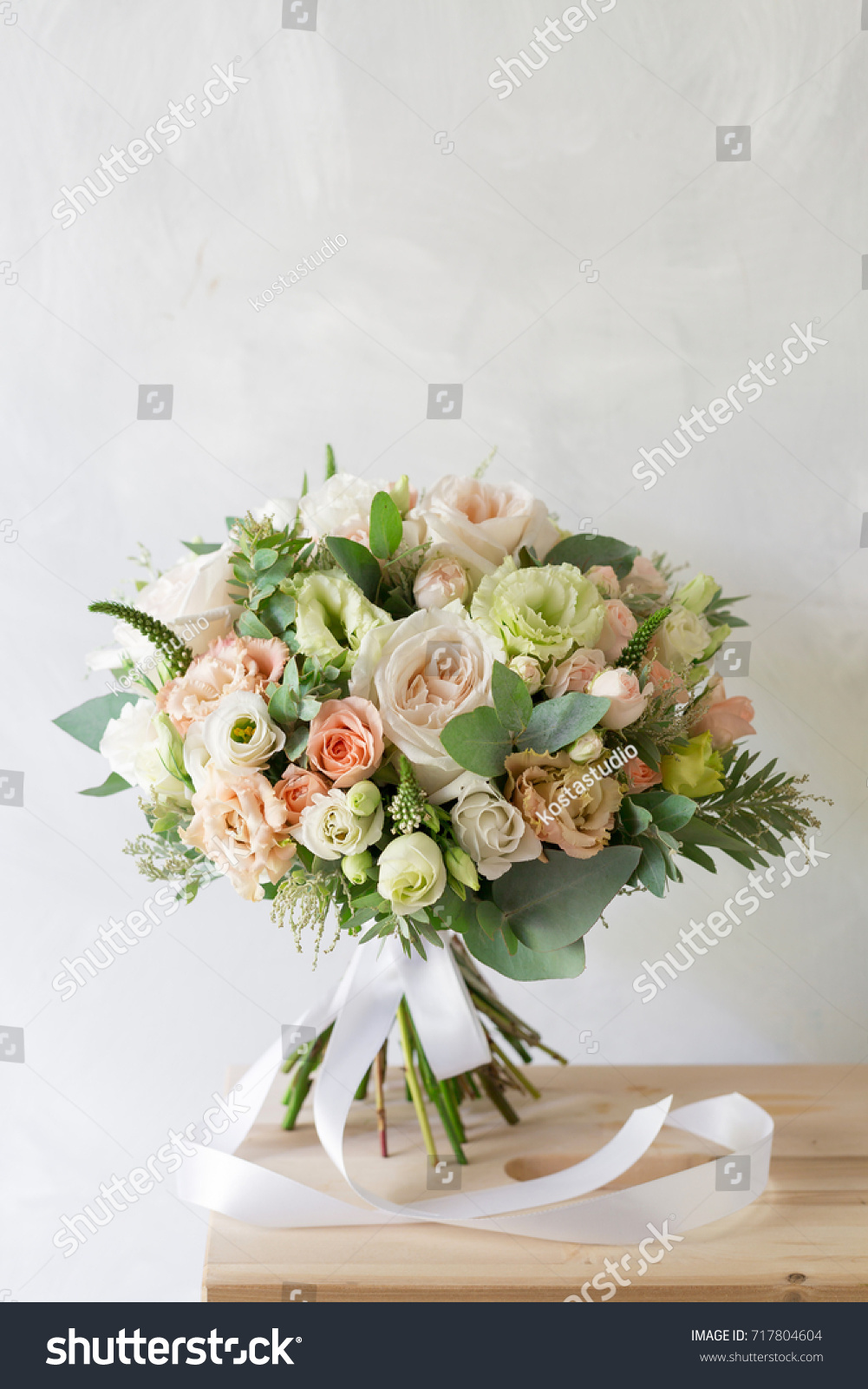 Bridal bouquet simple bouquet flowers greens stock photo royalty bridal bouquet a simple bouquet of flowers and greens izmirmasajfo