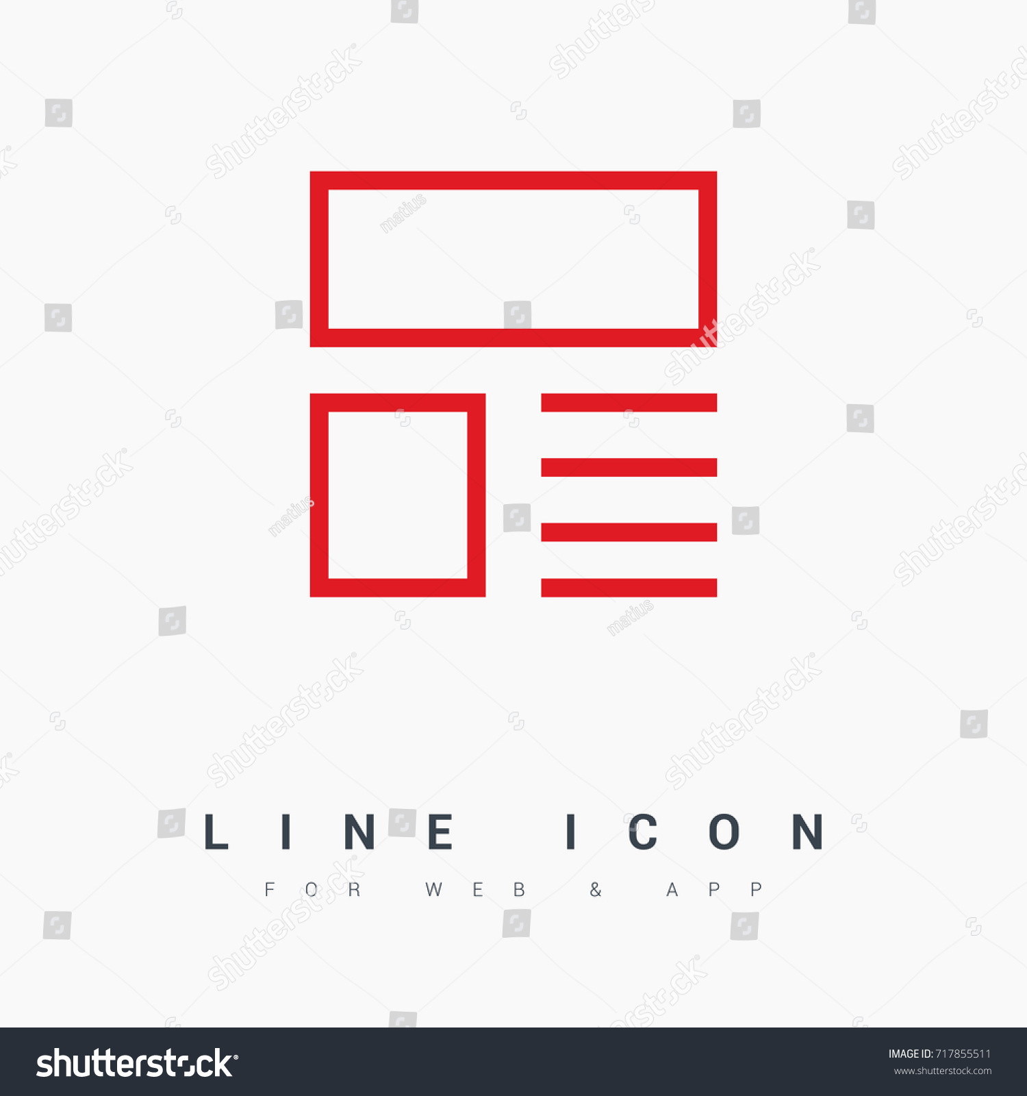 News Reviews Line Vector Icon Stock Vector (Royalty Free) 717855511