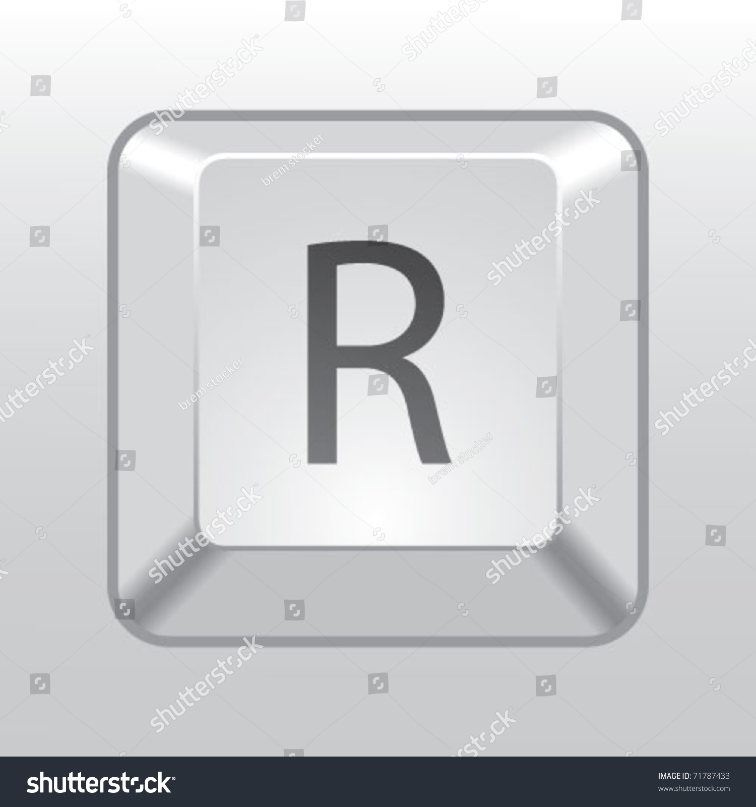 Keyboard key r stock vector 71787433 shutterstock biocorpaavc