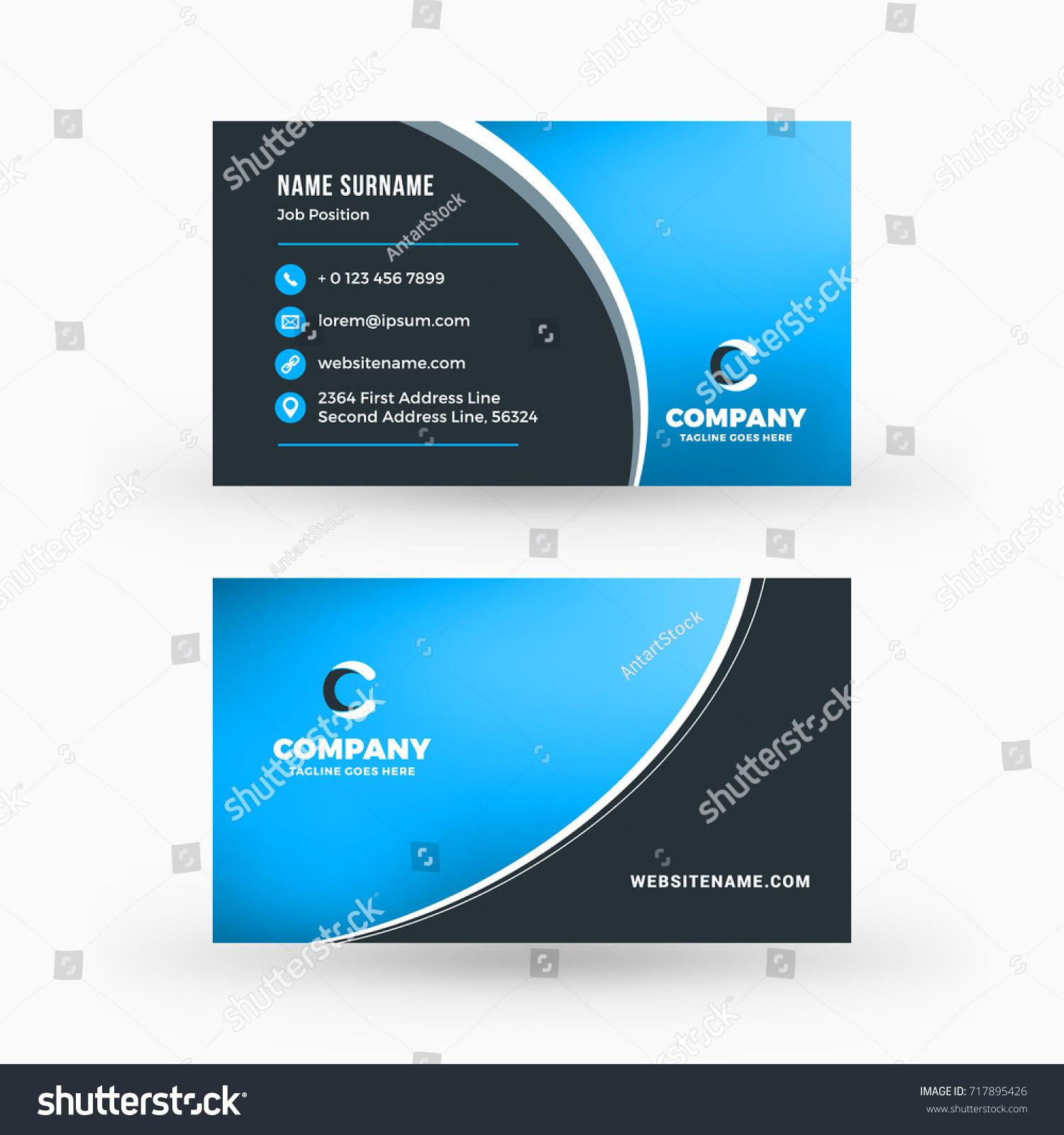 Creative Clean Doublesided Business Card Vector Stock Vector ...
