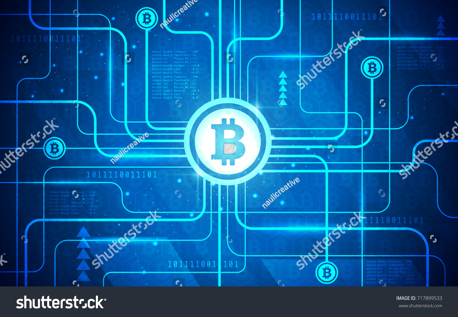 Modern Ultra Hd Bitcoin Mining Network Stock Vector Royalty Free 717899533