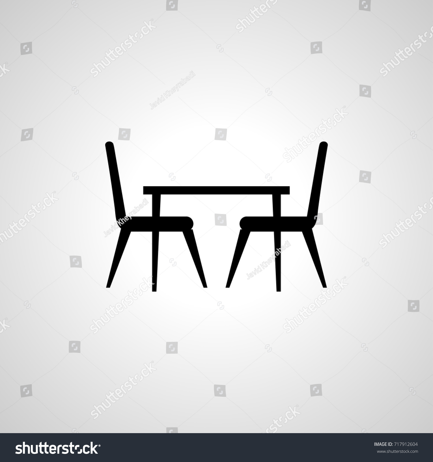 Table Chair Icon Stock Vector Shutterstock