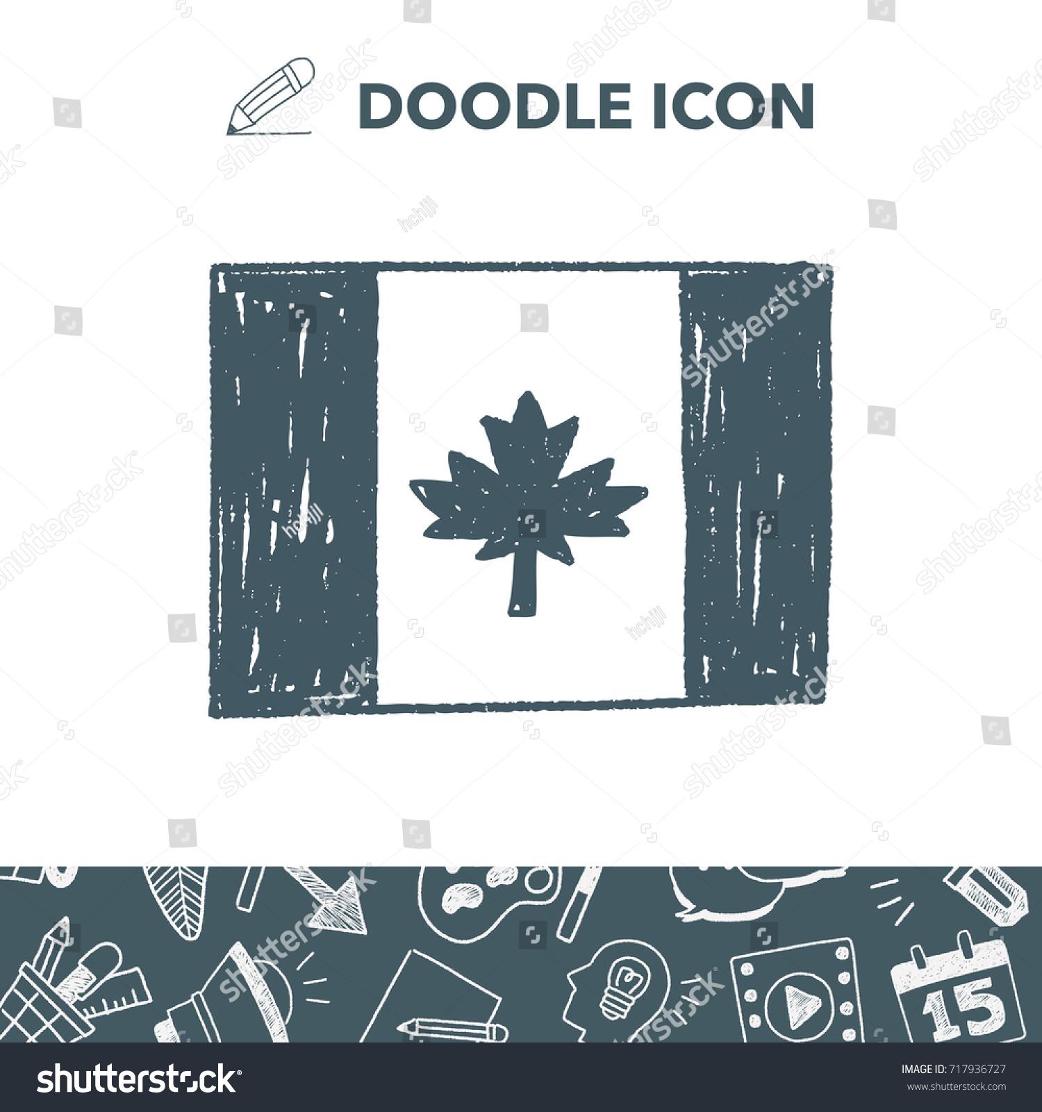 canada flag doodle stock vector 717936727 shutterstock