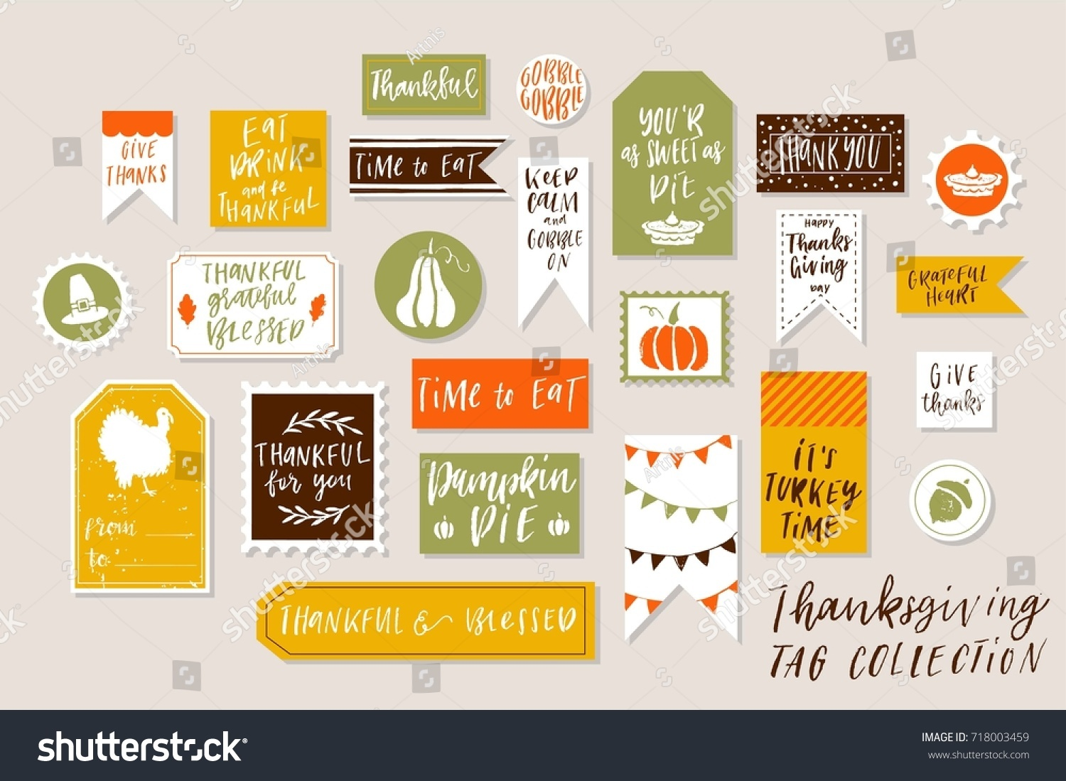 Abstract Bright Textured Colored Thanksgiving Day Stock Vector ...