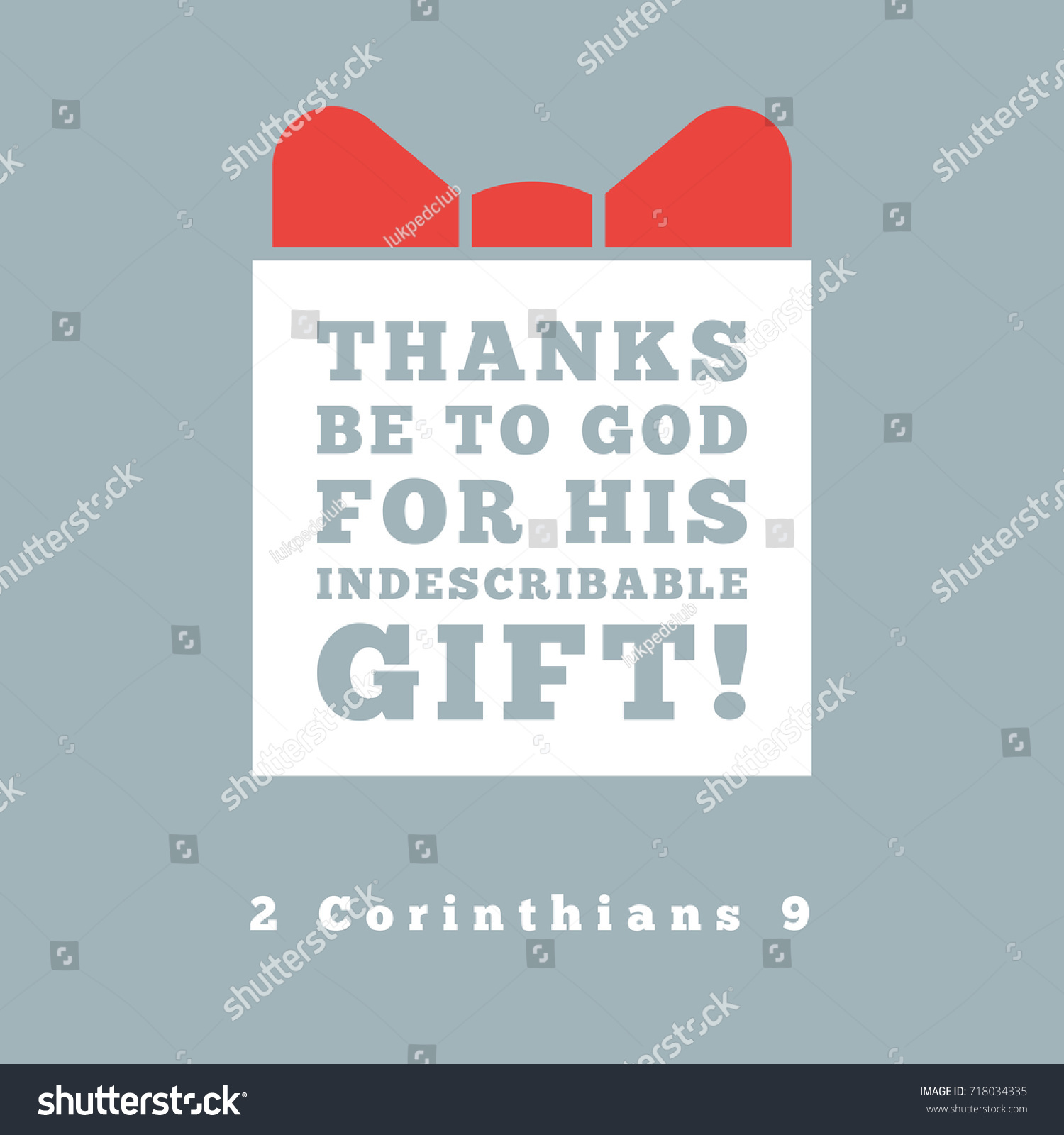 Thanks Be God His Indescribable Gift Stock Vector 718034335 ...