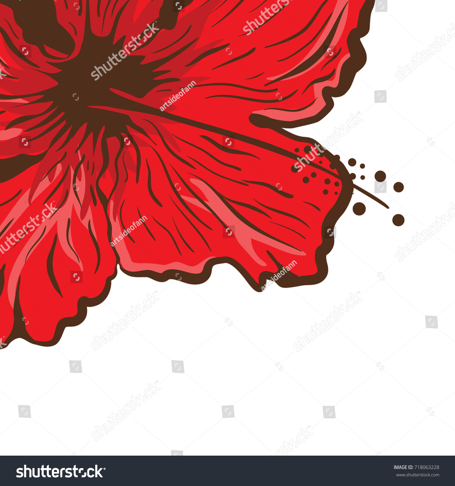 Hibiscus flower tattoo style graphic tropical stock vector 718063228 hibiscus flower in tattoo style graphic tropical flower izmirmasajfo