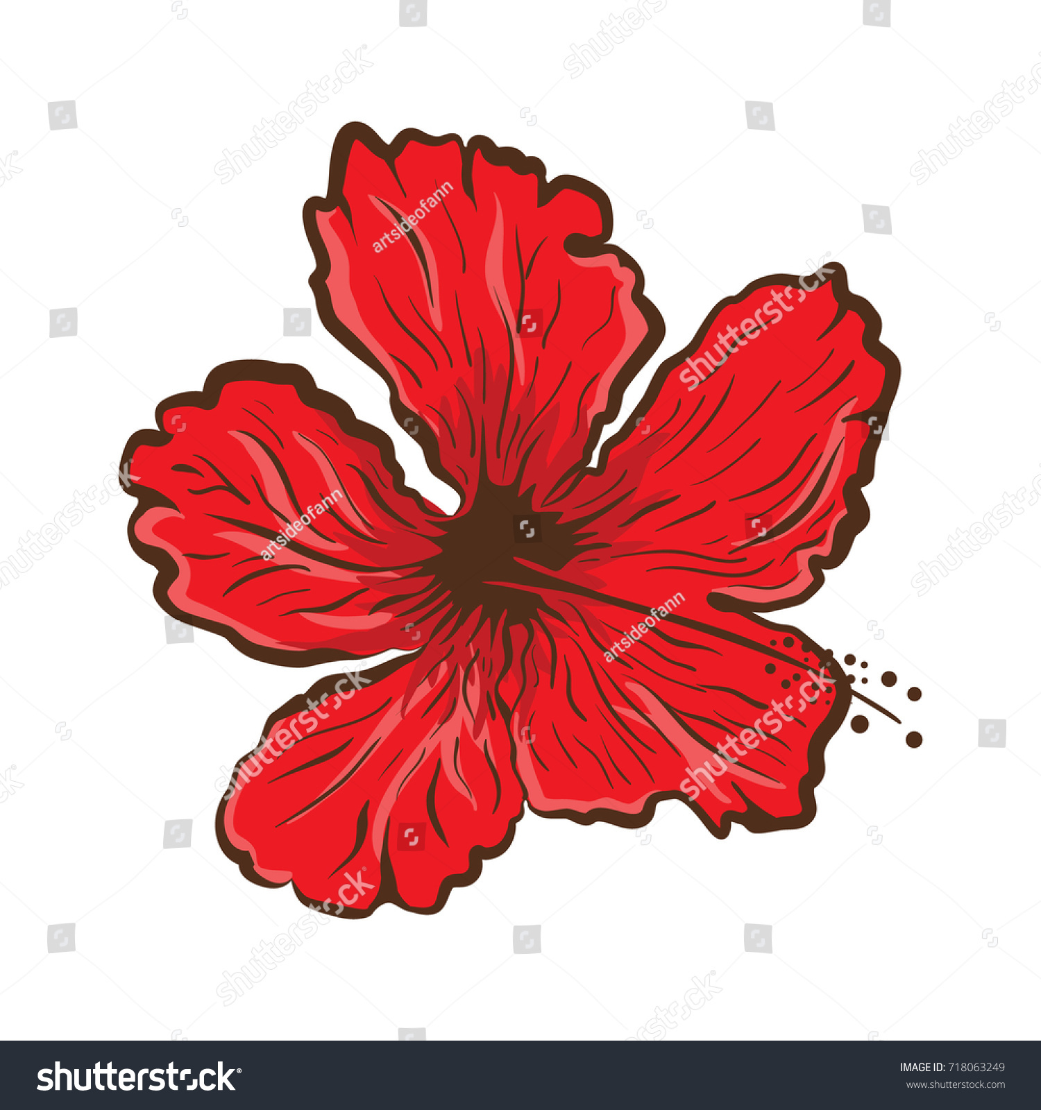 Hibiscus flower tattoo style graphic tropical stock vector 718063249 hibiscus flower in tattoo style graphic tropical flower izmirmasajfo