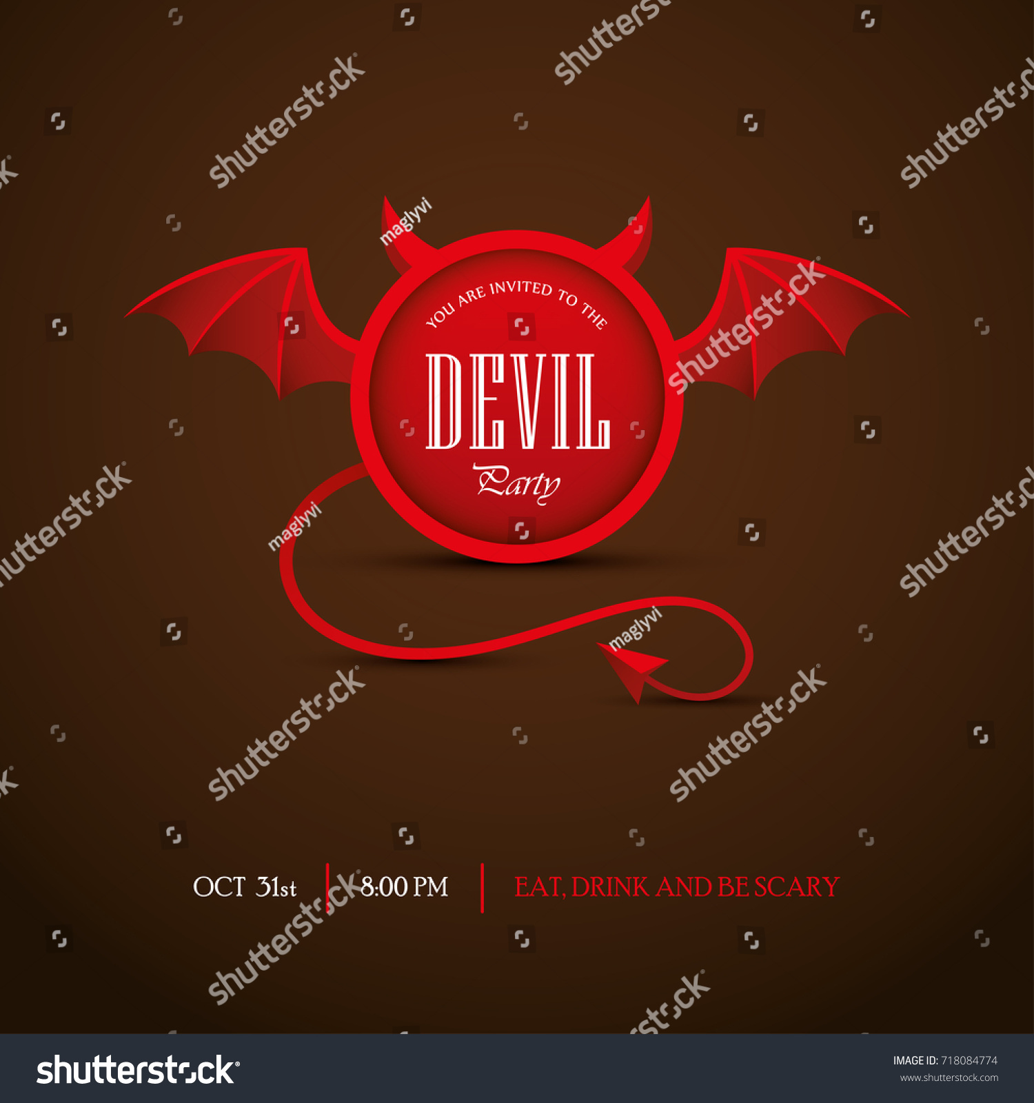 Creative Halloween Party Invitation Banner Design Vector – Creative Halloween Party Invitations