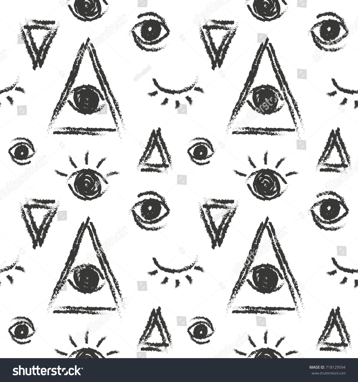 Vector seamless pattern eye providence masonic stock vector vector seamless pattern with eye of providence masonic symbol buycottarizona Images