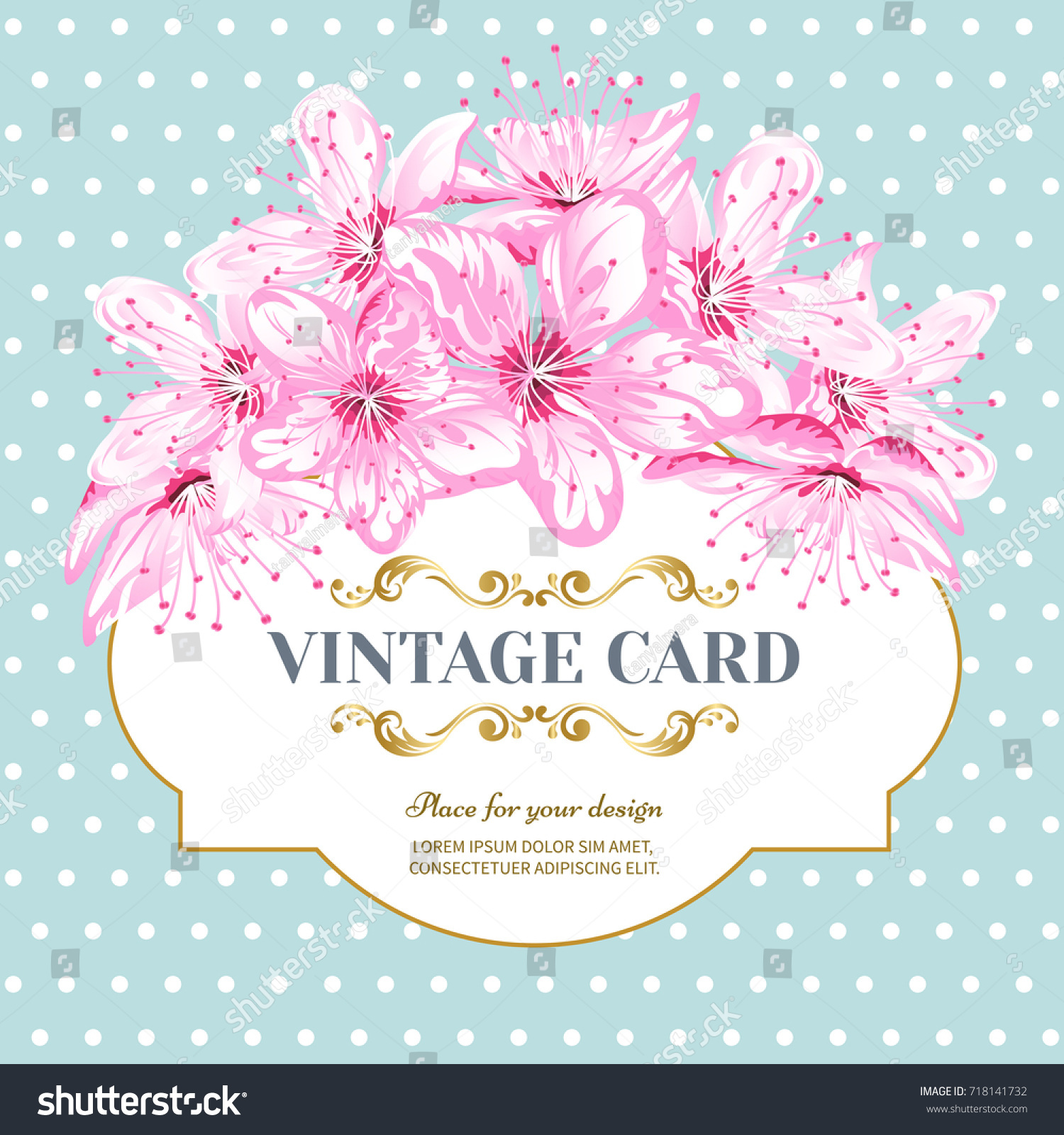 Invitation Card Color Sacura Blossom Flowers Vector – Spring or Summer Theme Invitation Cards