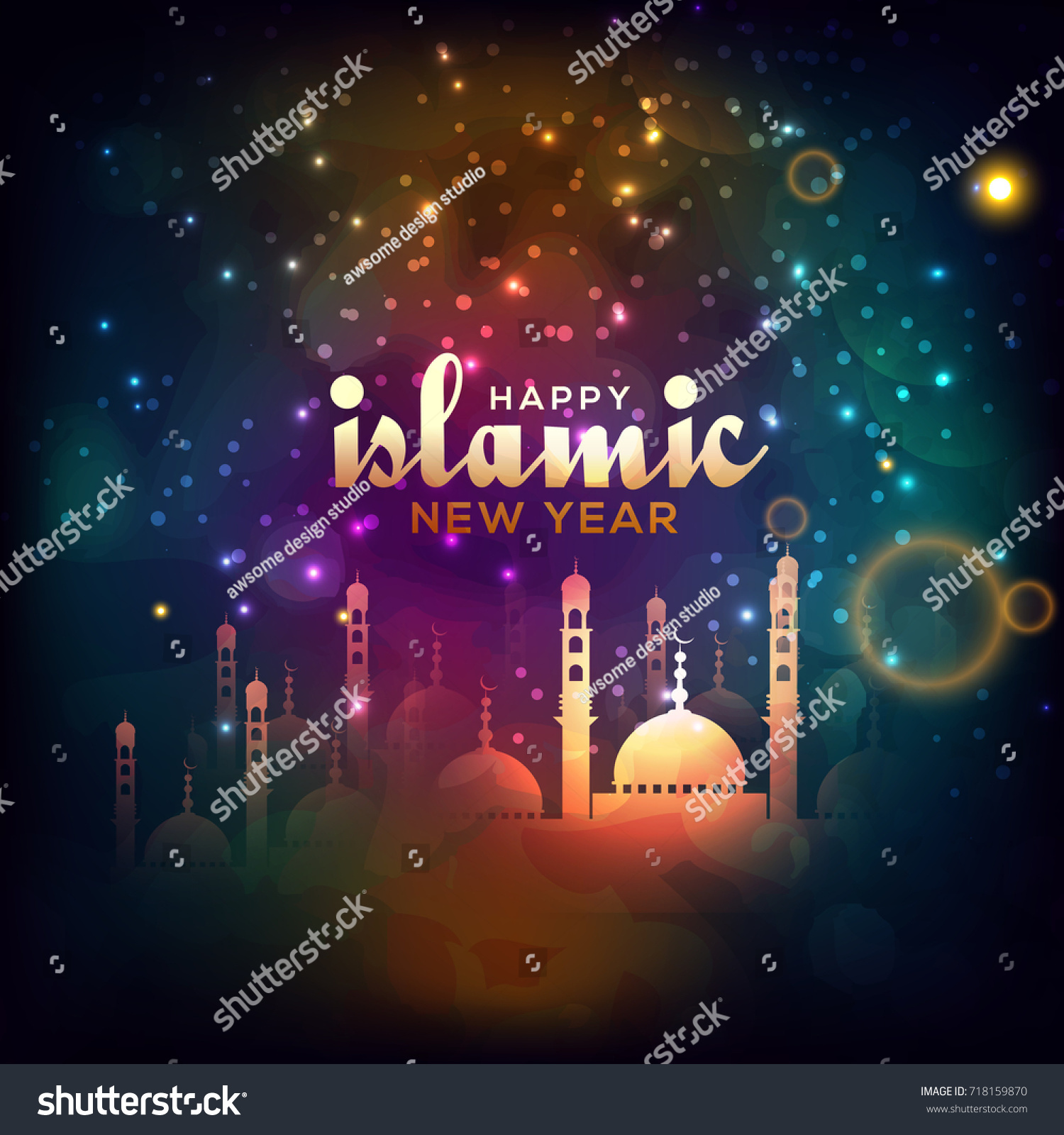 Illustrationgreeting Card For Islamic New Year Ez Canvas