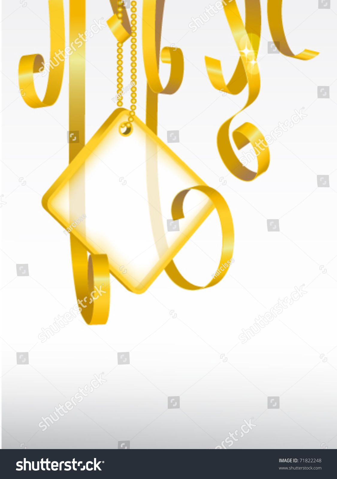 Greeting card card note rolled golden stock vector 71822248 greeting card card note with rolled up golden swirly ribbon on white background blank kristyandbryce Choice Image
