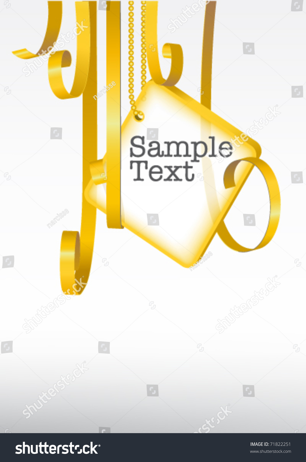 Greeting card card note rolled golden stock vector 71822251 greeting card card note with rolled up golden swirly ribbon on white background blank kristyandbryce Choice Image