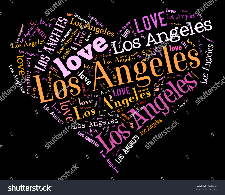 love los angeles stock illustration 71823964 shutterstock. Black Bedroom Furniture Sets. Home Design Ideas