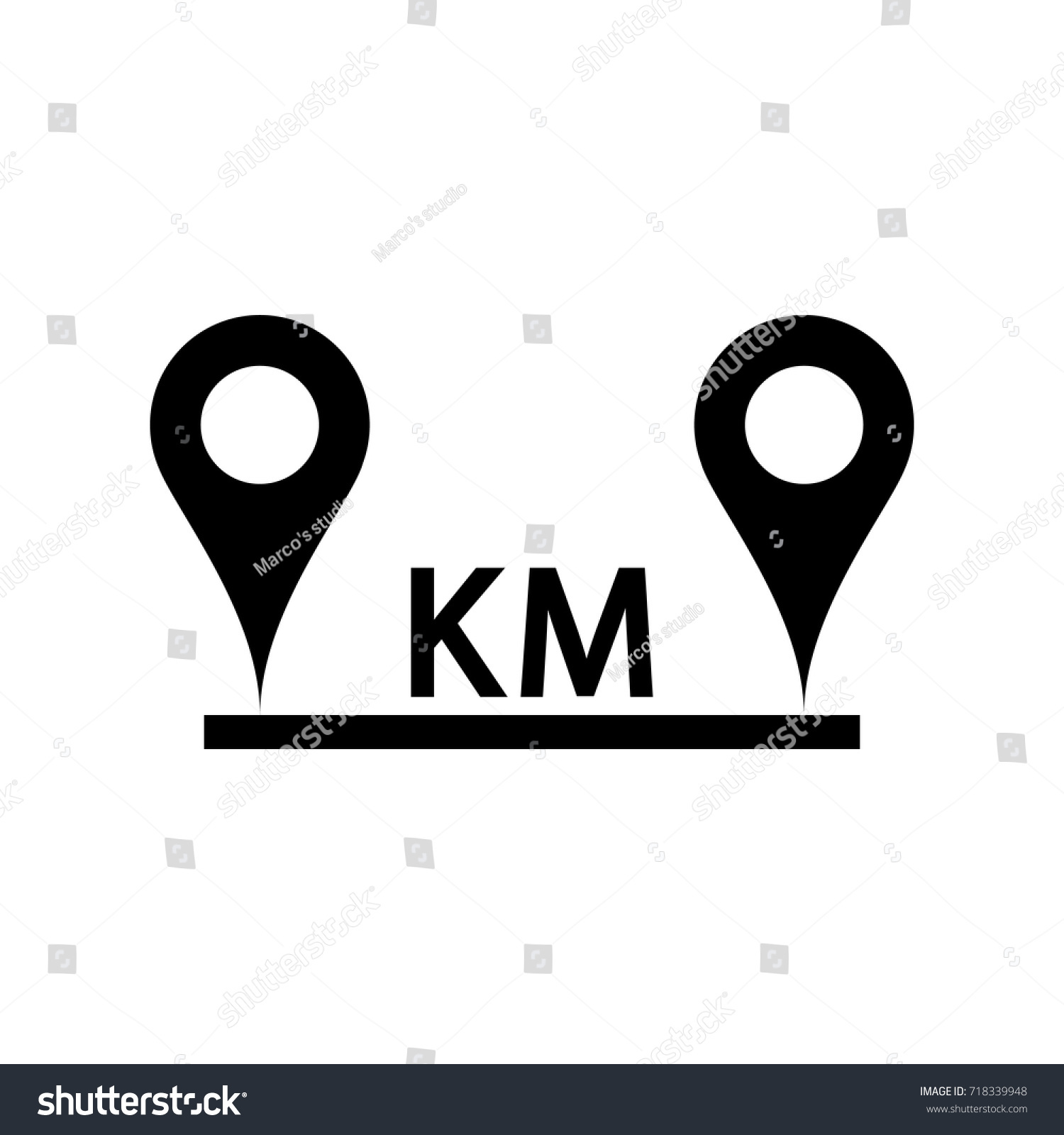 Location Vector Icon Stock Vector 718339948 - Shutterstock