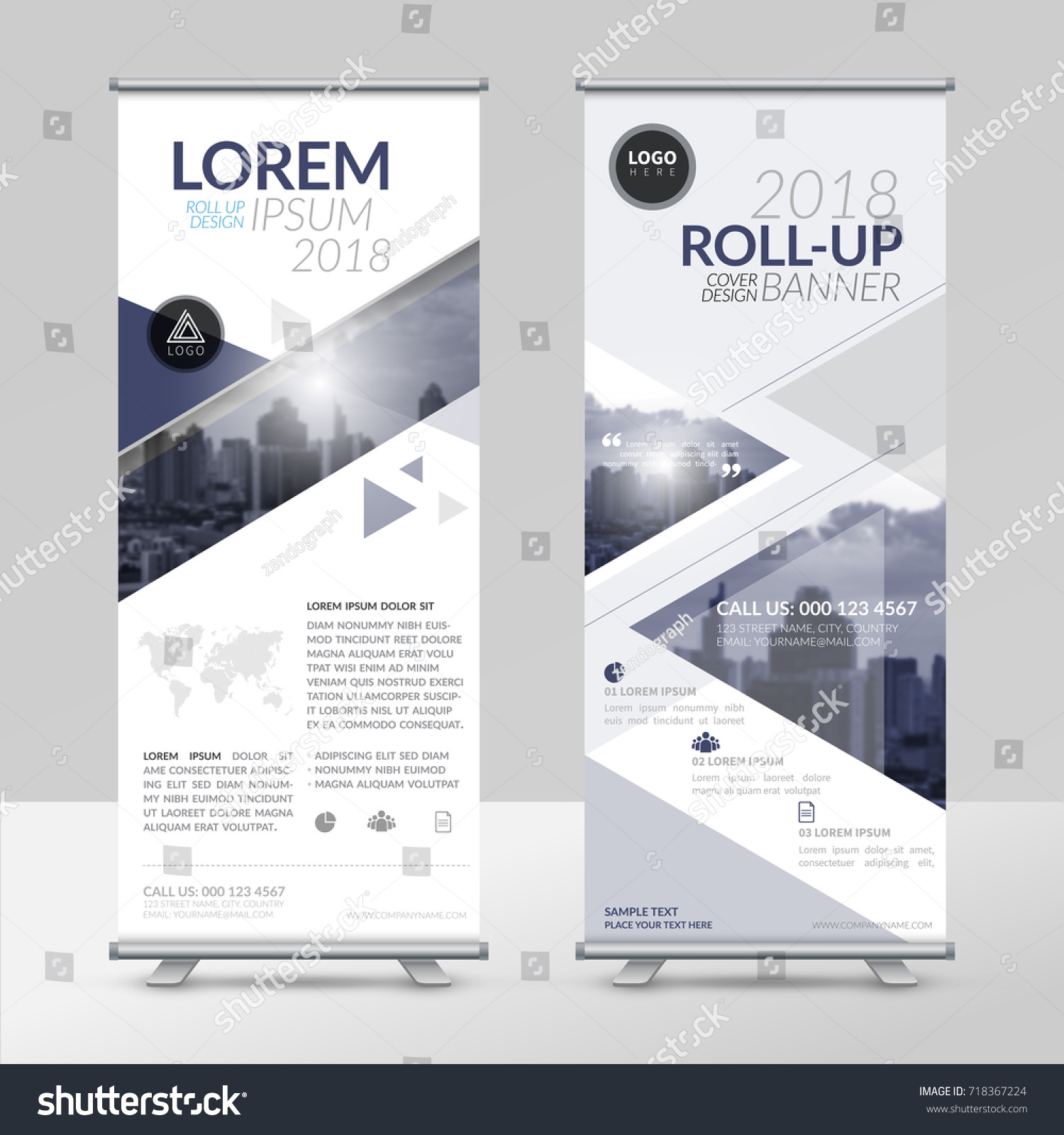 Business Roll Design Template Xstand Vertical Stock Vector HD ...