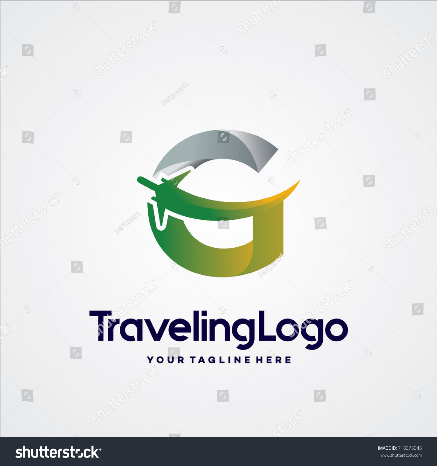 Letter g travel logo template design stock vector royalty free letter g travel logo template design vector emblem design concept creative symbol maxwellsz