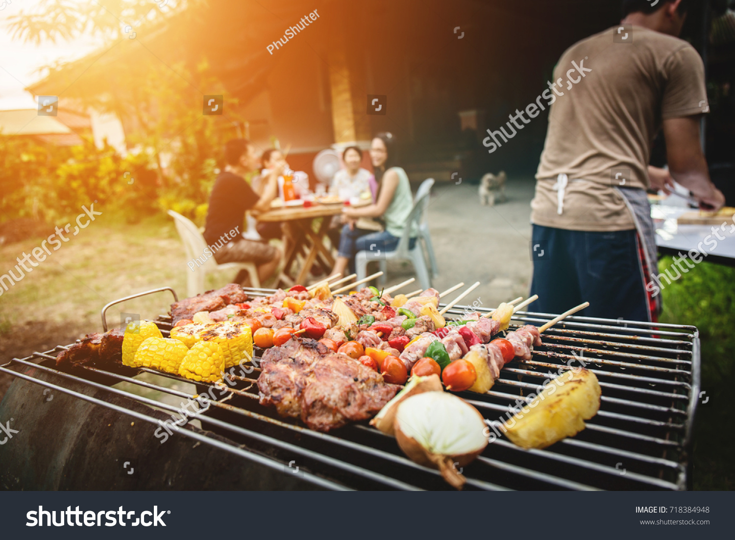 bbq food party summer grilling meat stock photo edit now 718384948