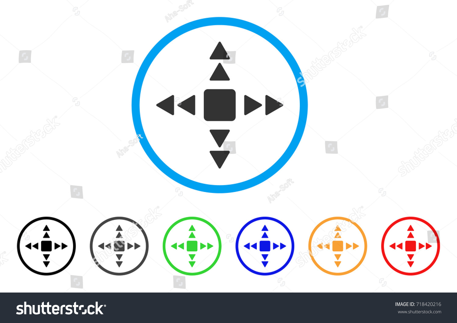 Direction triangles rounded icon style flat stock vector 718420216 direction triangles rounded icon style is a flat direction triangles gray symbol inside light blue buycottarizona Image collections