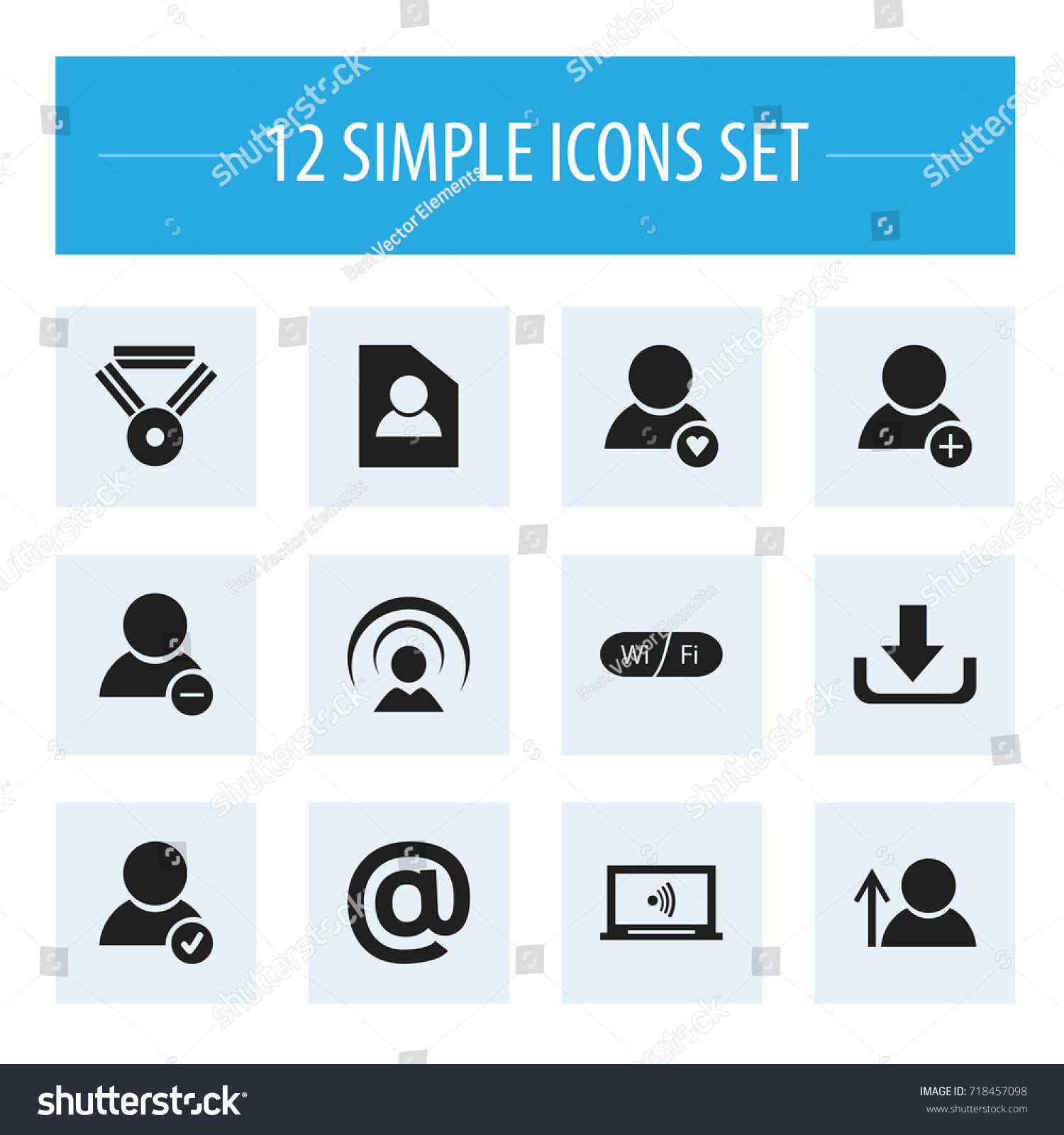 Set 12 editable internet icons includes stock vector 718457098 set of 12 editable internet icons includes symbols such as delete member mail symbol biocorpaavc