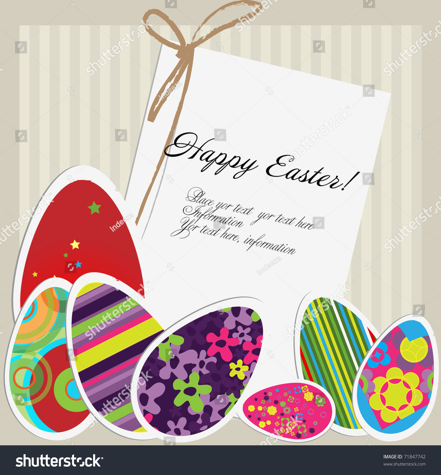 Easter Card Vector 71847742 Shutterstock – Easter Card