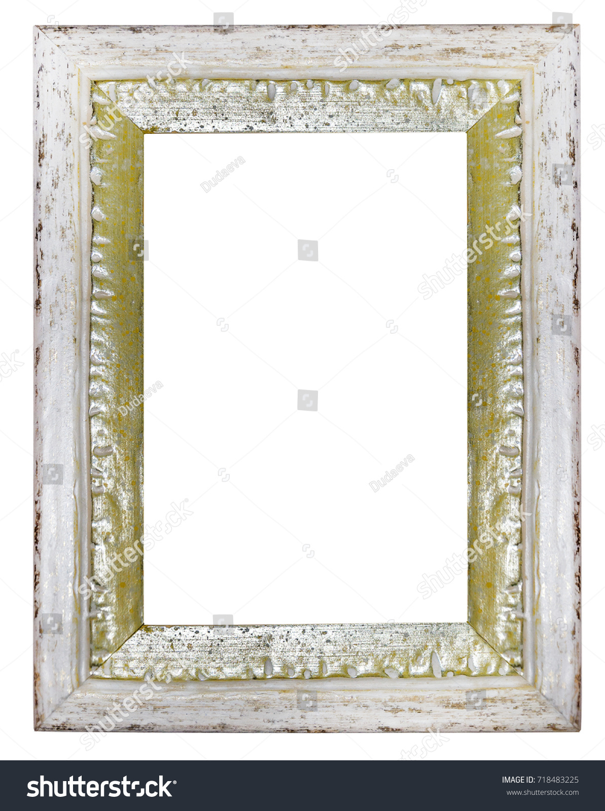 Classic white gold frame picture isolated stock photo 718483225 classic white and gold frame for picture isolated on white background jeuxipadfo Gallery