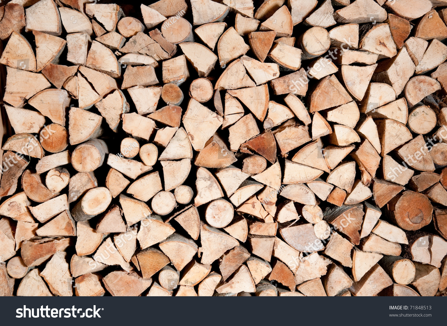 Image Gallery stacked logs