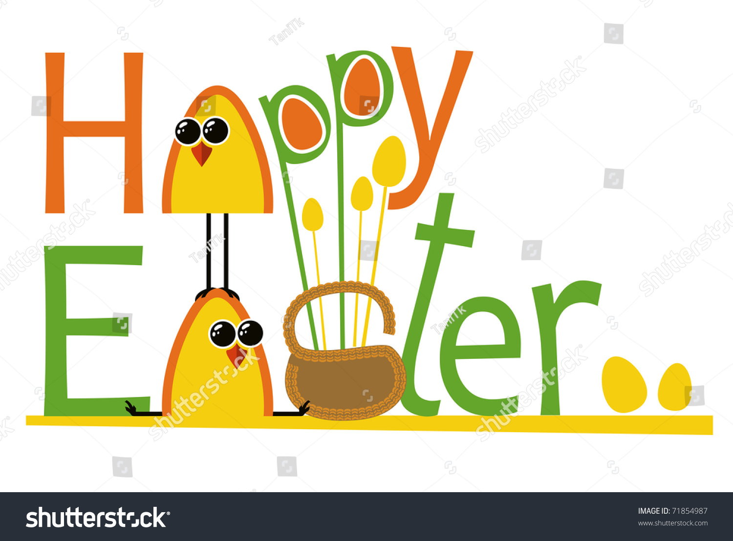happy easter text testicles vector eps stock vector