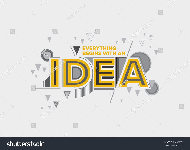 Idea Concept Modern Typography Design Creative Stock Vector ...