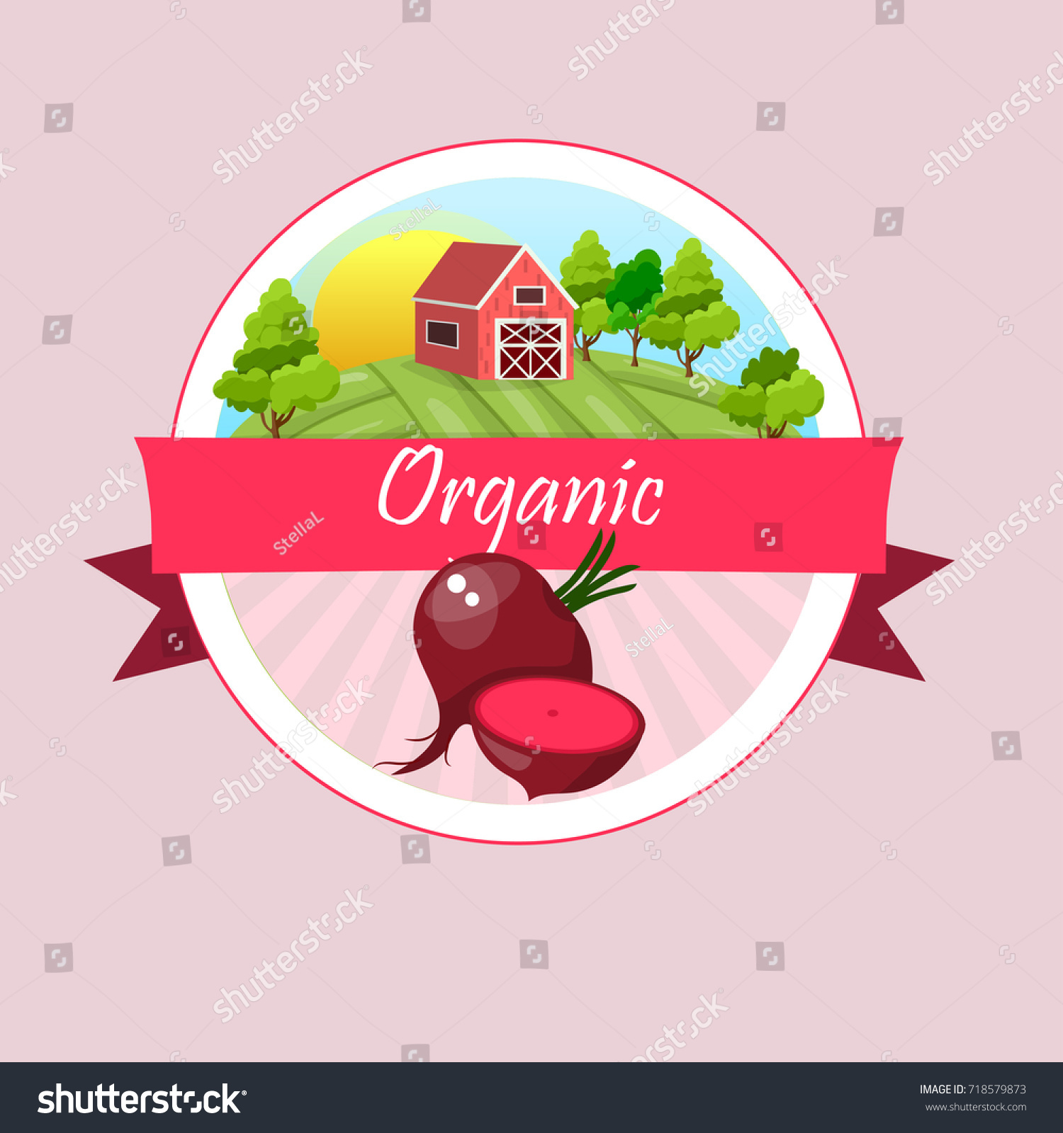 Vector illustration logo whole ripe vegetables stock vector vector illustration logo for whole ripe vegetables red beetcut slicednatural product closeup buycottarizona Image collections