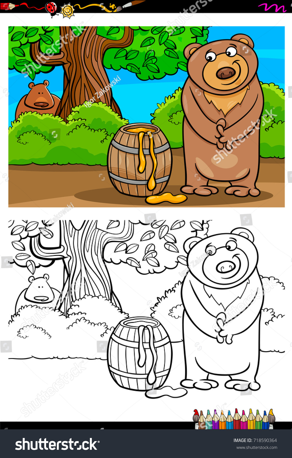 Honey Swamp Coloring Pages