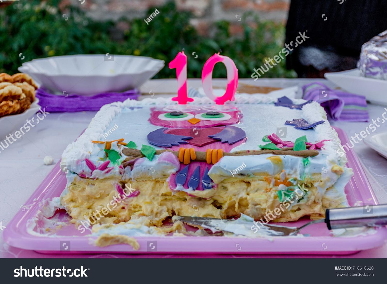 Birthday Cake 10 Yearold Girl Stock Photo Edit Now 718610620