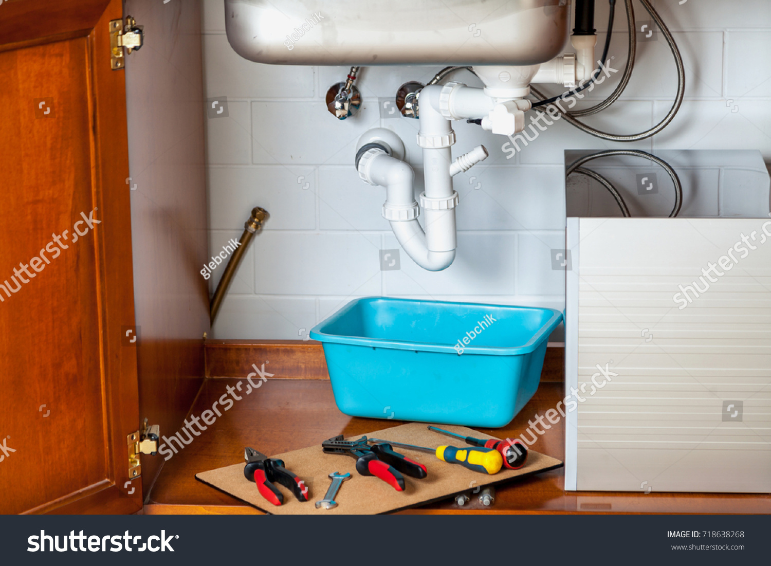 Repair Hydraulic Valve Kitchen Sink Set Stock Photo (Royalty Free ...