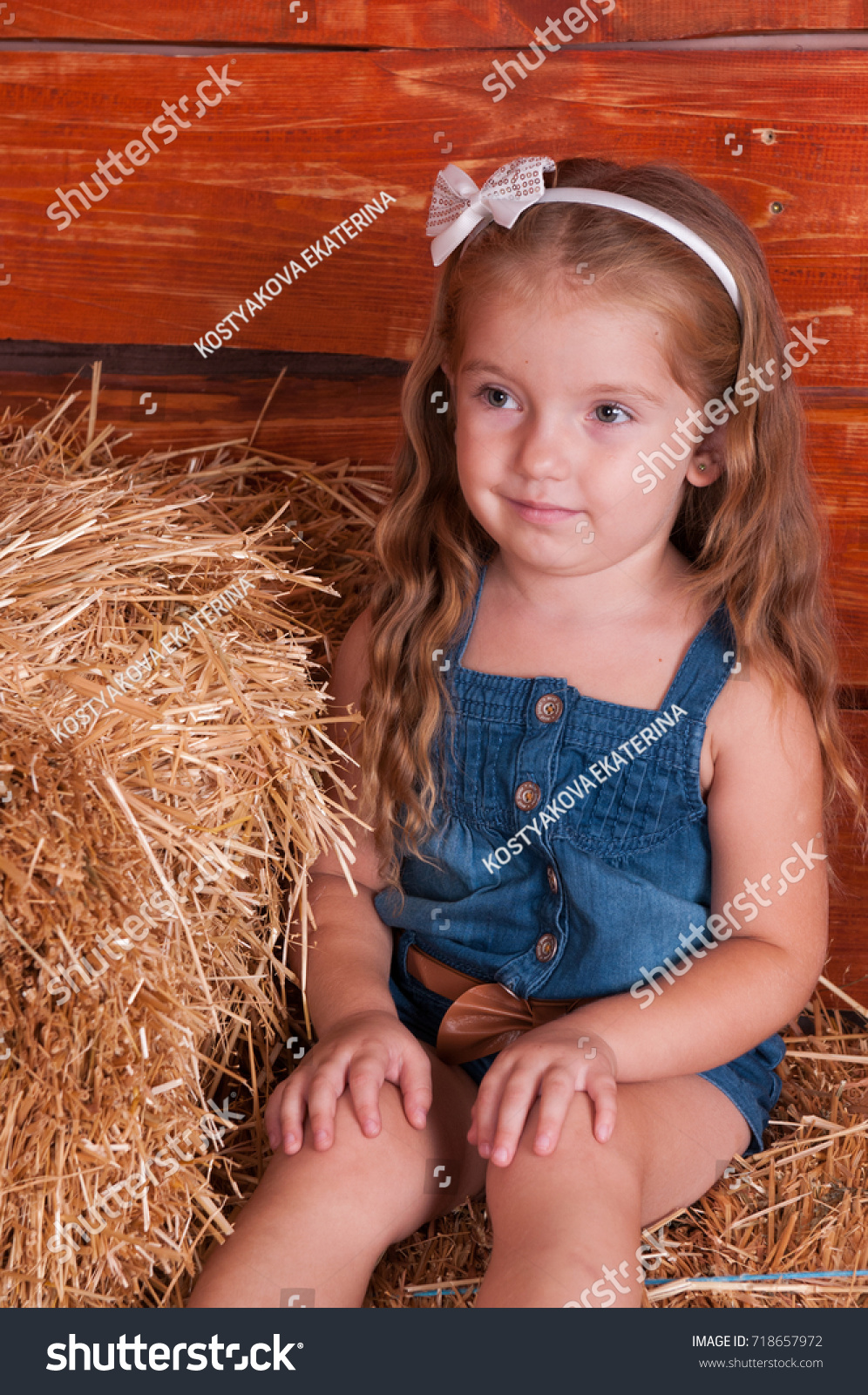 funny lovely baby girl little child stock photo (100% legal