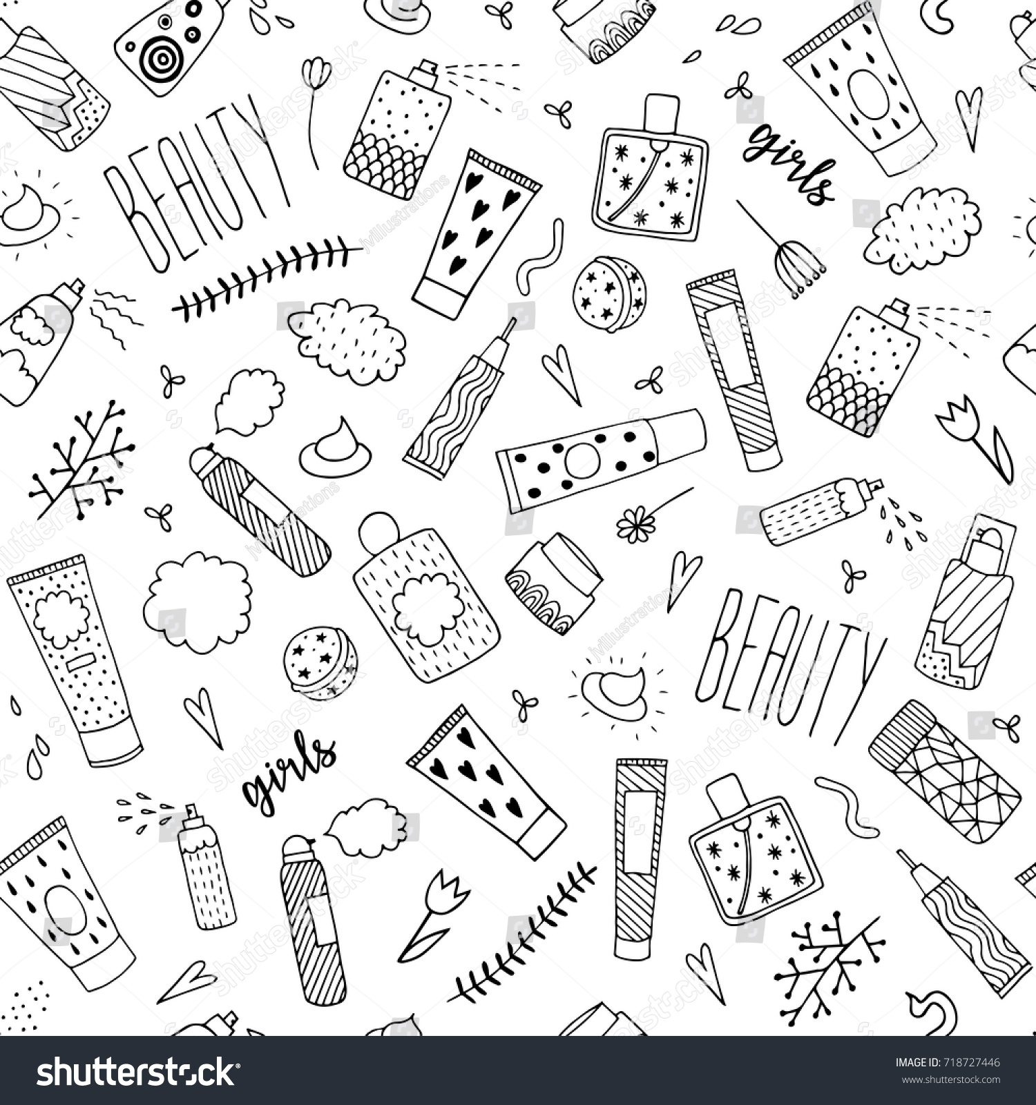 Top Cartoon Makeup Wallpaper - stock-vector-beauty-items-for-girls-seamless-pattern-cosmetic-for-makeup-tubes-and-bottles-hand-drawn-vector-718727446  Best Photo Reference_172553.jpg