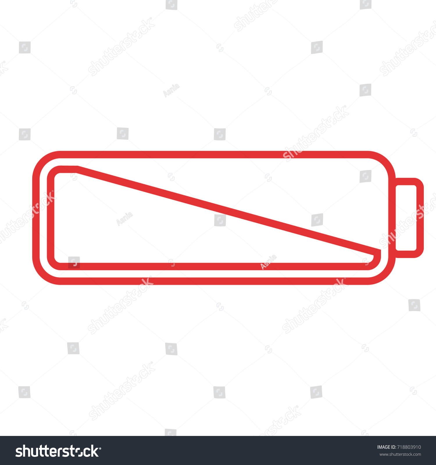 Smartphone Cell Phone Low Battery Icon Stock Vector 718803910 ...